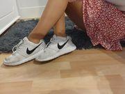 Getragene Nylons Socken