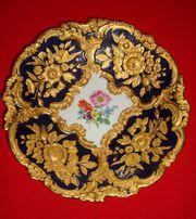 Original MEISSEN PRUNKTELLER blaugold Durchm
