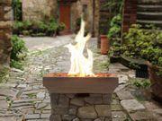 Feuerstelle braun Leichtbeton viereckig ANTILA