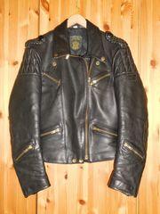Motorradbekleidung Lederjacke u Hose schwarz