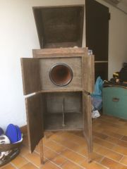 Grammophone Schrank Antik 30 Schellackplatten