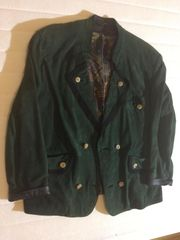 Trachtenjacke Gr 50 dunkelgrün Wild-Leder