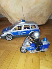 Polizeiwagen und Motorrad von Playmobil