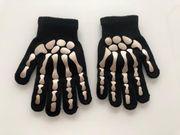 Skelett Kinder Handschuhe unbenutzt Karneval