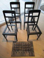 VINTAGE Eßtisch Eßzimmer -Stühle- Eichenholz dunkel
