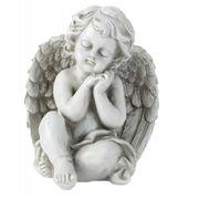 Grabschmuck Grabengel Engel Figur sitzend