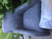 Sessel Schaukelsessel Kare Design grau