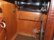 Nähmaschinenschrank aus Echtholz antik