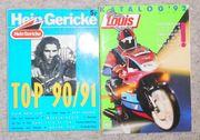 Motorrad- Kataloge und Prospekte aus