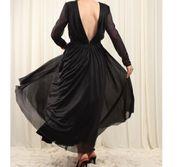 schwarzes Ball Abendkleid garnicht getragen