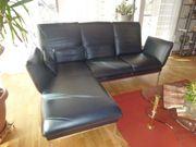 Ledersofa 3-Sitzer schwarz Designermodell
