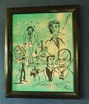 Verkaufe gerahmtes Acrylbild auf Leinwand