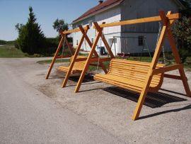 Massive Holzschaukel Hollywoodschaukel fertig lasiert: Kleinanzeigen aus Tyrlaching - Rubrik Gartenmöbel