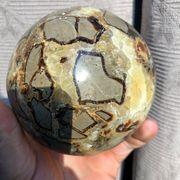 Schöne Septarie - Kugel Heilstein Mineralien