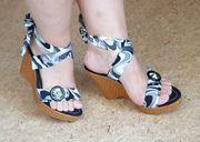 Keil Sandaletten zum schnüren Gr