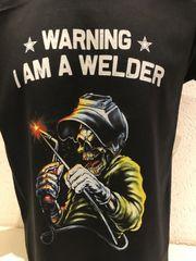 Tshirt bedruckt welder Skull Schweißer