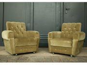 2 Sessel 70er-80er Velour Couch