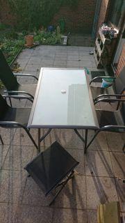 Gartentisch mit 4 Stühlen inkl
