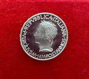 Silbermünze 500 Lire Italien 1981