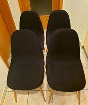 4x Design Esszimmerstühle - Möbel - Lounge -
