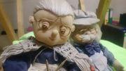 Stoff - Puppen Oma und Opa