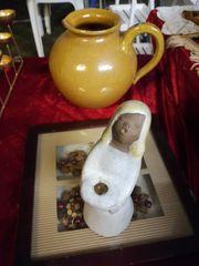 Alter Keramik Krug u v