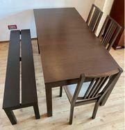 Esstischgruppe Bjursta Bank 3 Stühle