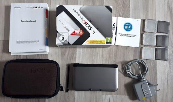 Nintendo 3ds Xl Sd Karte.Nintendo 3ds Xl Silber Tasche 17 Spiele 4gb Sd Karte In