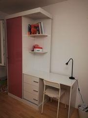 Schreibtisch- Kleiderschrankkombi
