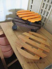 Blumentopf Untersetzer Holz mit Rollen