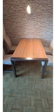 Esstisch Holz Edelstahl