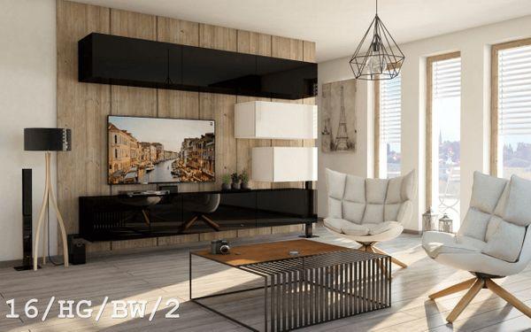 Möbel Wohnzimmer Mediawand Wohnwand Anbauwand