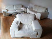 Couchgarnitur aus echtem Leder