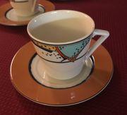 12 Kaffeetassen mit Untertassen Tiffany