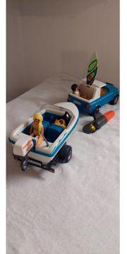 Playmobil-Auto Anhänger u Boot