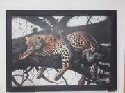 Wandbild - Leopard auf Baum