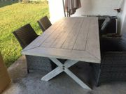 Terasse-Garten Tisch aus hellem Holz