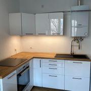 Küche Ikea weiß Hochglanz 1