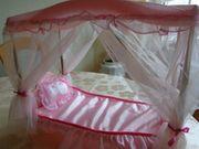 Vintage - Petra Barbie Himmelbett Bett