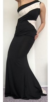 NEU sexy one-shoulder-Kleid Schleppe Abendkleid
