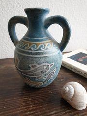Griechische Delphin-Vase - Handbemalte Keramik
