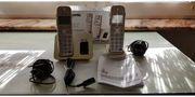 2 Panasonic KX-TGE222 Digitale Schnurlos-Telefone
