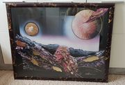 Bild Wandbild Fantasie Erde Mond