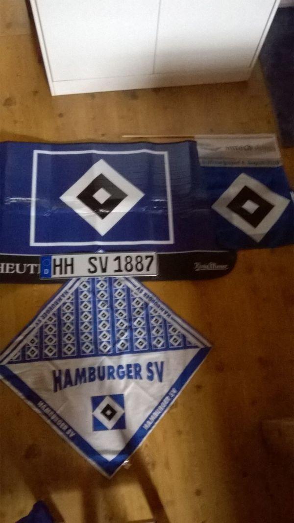 Großes Hsv Hamburger Sport Verein Fan Set Inklusive Versand In