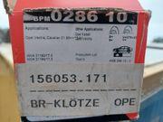Opel Bremsklötze Vorderachse