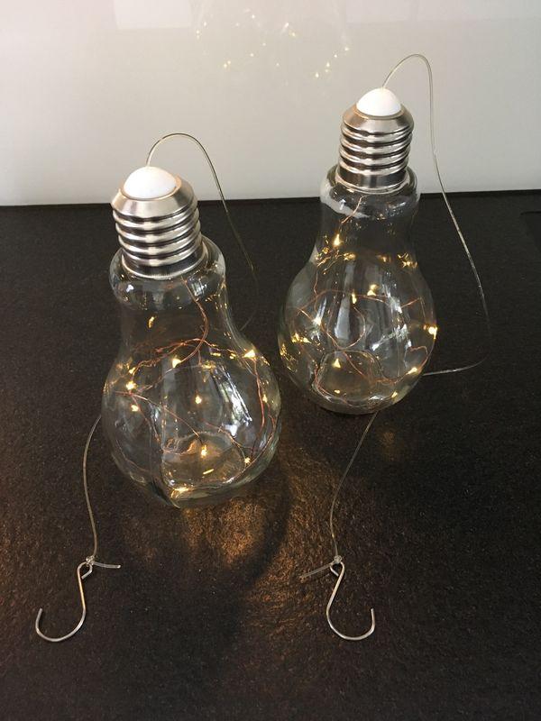2 Stück Deko Glühlampen