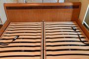 Doppelbett Kirschbaum massiv Lattenroste dreifach