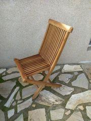 4 Stück gebrauchte Holz Klappstühle