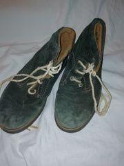 grüne Wildlederschnürer Schuhe größe 39