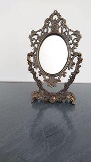 Messing-Spiegel - kippbar - 19 cm hoch
